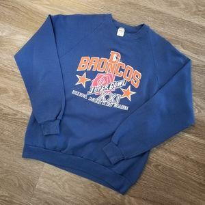 Vintage 1987 Denver Broncos Superbowl XXI Sweater
